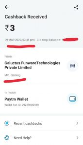 MPL Pro Payment Proof 2020