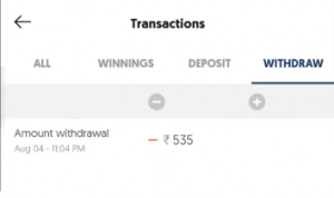 Fantasy Akhada Payment Proof 2020